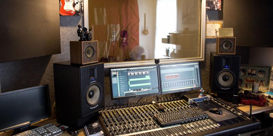 Cabine du studio AJL Recording
